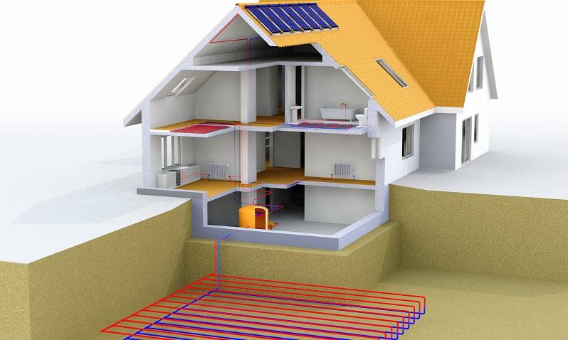 Eine Solarthermieanlage wird <strong>in der Regel als Ergänzung</strong> zu einer anderen Heizungsart, zum Beispiel einer Erdwärmepumpe oder einer Gas-Brennwertheizung, installiert. ( Foto: Shutterstock-Costazzurra )